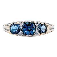 Beautiful Vintage London Blue Topaz Cocktail Ring
