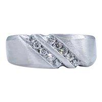 Stylish Diamond & 14K White Gold Ring
