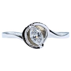Beautiful Marquise Cut Diamond Solitaire Ring