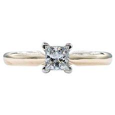 Stunning Princess Cut Diamond Solitaire Ring