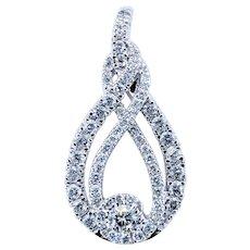 Stunning Diamond & White Gold Pendant