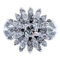 Exquisite Diamond & 14K White Gold Cluster Ring