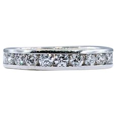 Traditional Brilliant Cut Diamond Wedding Band