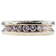 Traditional Channel Set Diamond Band - 14K Gold