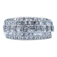 Flashing Multi-Cut Diamond Cocktail Ring