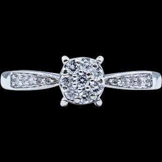Glittering Pave Diamond Dress Ring