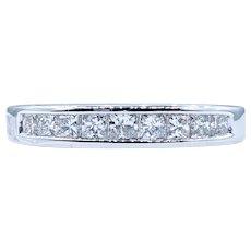 Classic Princess Cut Diamond Wedding Band