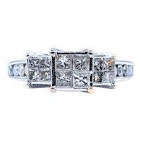 Invisibly Set Princess Cut Diamond Ring