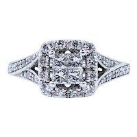 "Elegant Diamond ""Illusion"" Engagement Ring"