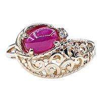 Vintage Star Ruby & Diamond Dress Ring
