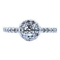 Beautiful Brilliant Diamond Halo Engagement Ring