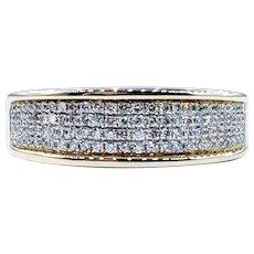 Four Row Micro Pave Diamond Ring