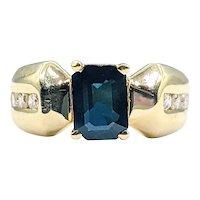 Retro Sapphire & Diamond Dress Ring