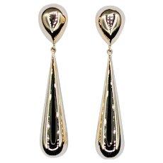Dramatic 14K Gold Drop Earrings
