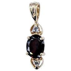 Charming Garnet & Diamond Pendant