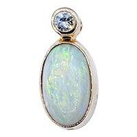 Colorful Opal & Diamond Pendant