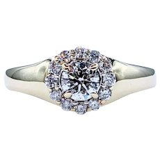 Sophisticated Diamond & 14K Gold Engagement Ring
