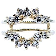 Glamorous Diamond Ring Enhancer - 14K Gold
