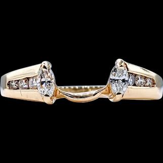 Fabulous Marquise Cut Diamond Ring Enhancer