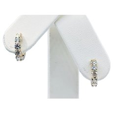 Diamond & 14K Gold Huggie Earrings
