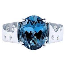 London Blue Topaz & Diamond Cocktail Ring