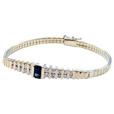 Beautiful Retro Sapphire & Diamond Bracelet