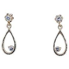 Stylish & Simple Diamond Drop Earrings