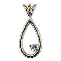 Stylish & Simple Diamond Drop Pendant