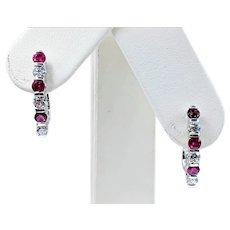 Refined Ruby & Diamond Earrings