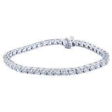 Sensational Diamond Tennis Bracelet - 18K White Gold