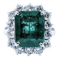 Superb Emerald & Diamond Cocktail Ring
