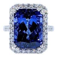 Magnificent Tanzanite & Diamond Cocktail Ring