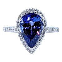 Striking Tanzanite & Diamond Cocktail Ring