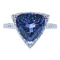 Vivid Tanzanite & Diamond Cocktail Ring