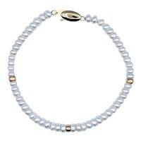 Delicate Cultured Pearl & 14K Gold Bracelet