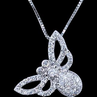 Darling Pave Diamond Butterfly Pendant
