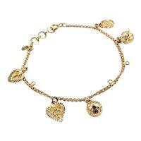 Unique 21K Gold Charm Bracelet