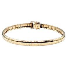 Retro 14K Gold Omega Bracelet