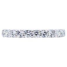 Shimmering Diamond & 14K White Gold Wedding Band