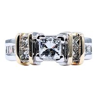 Impressive Princess Cut Diamond Engagement Ring
