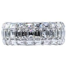 Exceptional Baguette Cut Diamond Dress Ring
