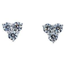 Simple Everyday Diamond Cluster Stud Earrings