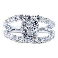 Gorgeous Diamond Twist / Crossover Cocktail Ring