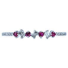 Delicate Ruby & Diamond Stackable Ring