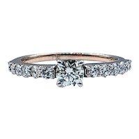 Brilliant Diamond & Rose Gold Engagement Ring