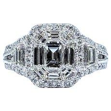 "Breathtaking Diamond ""Illusion"" Engagement Ring"