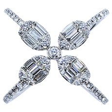 Splendid Multi Cut Diamond Fashion Ring