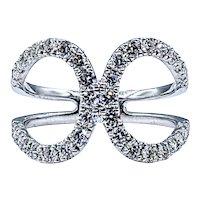 Glittering Diamond Loop Fashion Ring