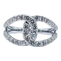 Stunning Diamond Interlocking Loop Ring