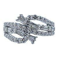 Elegant Multi-Cut Diamond Cocktail Ring